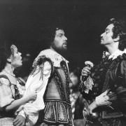 1981 Covent Garden - Masetto + Merja Wirkkala + Ruggero Raimondi cond. Colin Davis prod. Peter Wood photo: Clive Barda